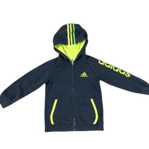 Adidas Zip Front Sweatshirt Jacket Boys